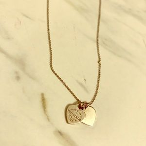 Tiffany's mini double hearts necklace